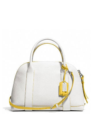 Coach Bleecker Preston Satchel Edgepaint Pebbled Leather