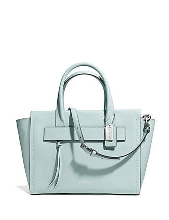 Coach Bleecker Riley Carryall Satchel in Saffiano Leather