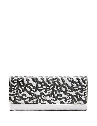 Coach Bleecker Soft lizard Embossed Leather Wallet