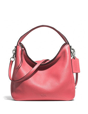 Coach Bleecker Sullivan Convertible Hobo In Pebbled Leather