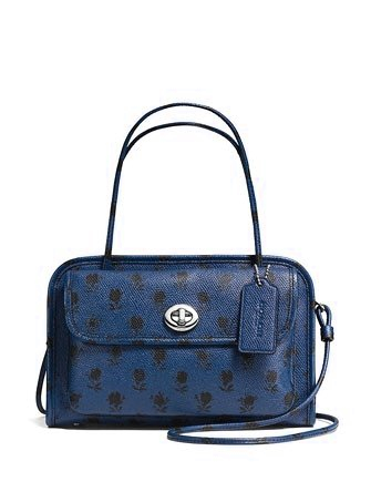 Coach Cady Crossbody in Floral Printed Crossgrain Leather