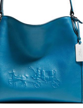 66b1551fc6 Coach Embossed Horse and Carriage Edie Shoulder Bag