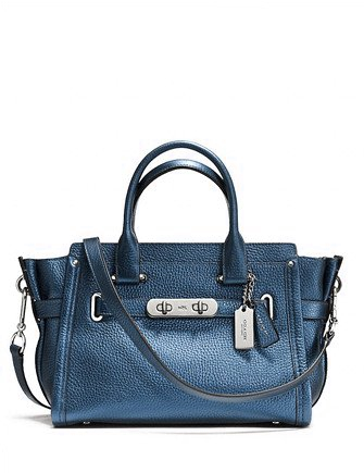 Coach Swagger 27 Pebbled Leather Carryall Satchel