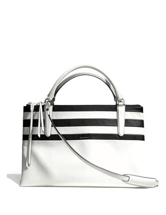Coach Borough Bag in Bar Stripe Leather