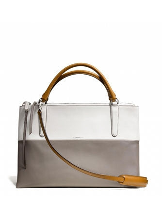 Coach The Borough Bag In Retro Colorblock Smooth Leather