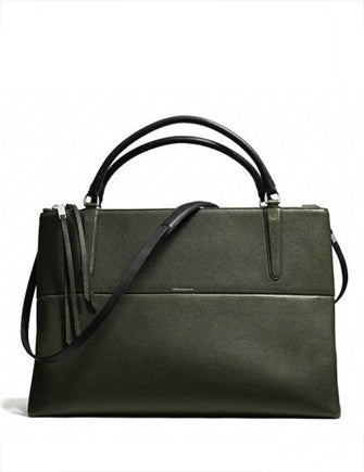 Coach LG Borough Bag in Pebble Leather