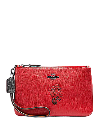 Coach Boxed Minnie Mouse Small Wristlet