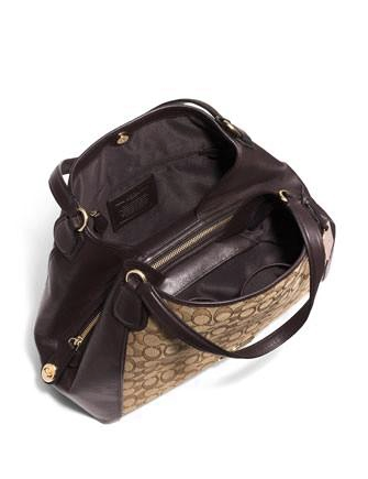 8234e5fe1ca ... closeout coach edie shoulder bag in signature jacquard and leather  22155 3334d