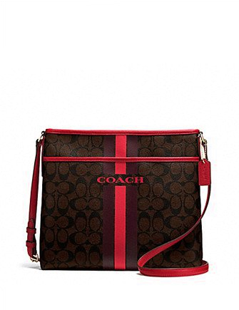 Coach Signature Varsity Stripe File Crossbody Bag