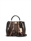 Coach Mini Gramercy Printed Calf Hair Satchel