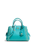 Coach Mini Margot Carryall Studded Crossgrain Satchel