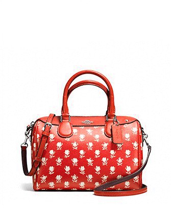 Coach Mini Bennett Satchel In Badlands Floral Print