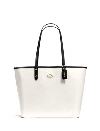 Coach Reversible City Tote With Travel Pouch