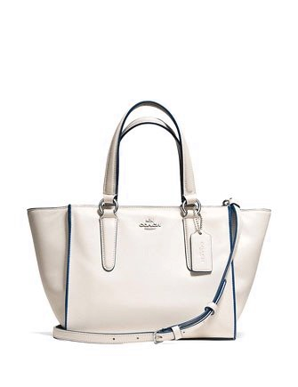 Coach Mini Crosby Zip Top Carryall in Colorblock Leather