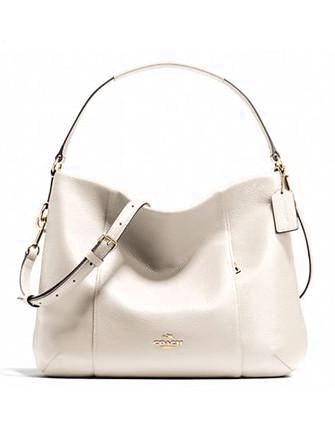 Coach Isabelle East West Pebble Leather Shoulder Bag