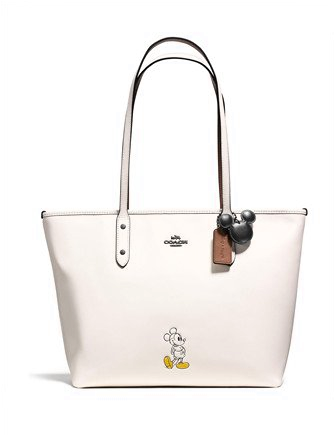 Coach Mickey City Tote in Calf Leather