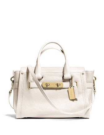 Coach Zip Top Swagger Carryall In Nubuck Pebbled Leather