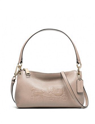 Coach Charley Embossed Horse and Carriage Top Handle Crossbody