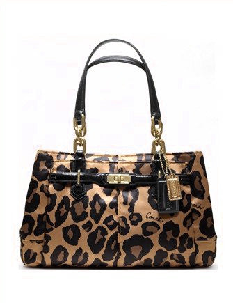 Coach Chelsea Ocelot Leopard Shoulder Bag