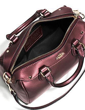 Coach Baby Bennett Metallic Crossgrain Leather Crossbody