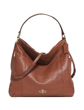 Coach Chicago Gallery Pebbled Leather Hobo Shoulder Bag