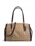 Coach Christie Carryall with Pleats in Signature Jacquard