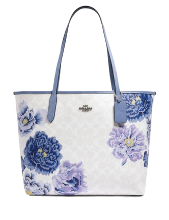 Coach City Tote in Signature Canvas With Kaffe Fassett Print