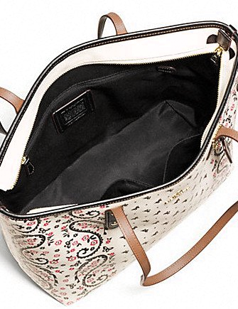 Coach City Zip Tote in Butterfly Bandana Print
