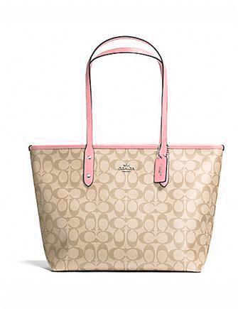 Coach City Zip Tote in Signature Print