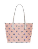 Coach City Zip Tote With Bell Flower Print