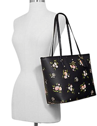 Coach City Zip Tote With Tossed Daisy Print