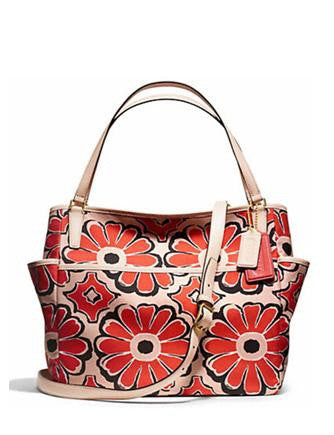 Coach Floral Print Multifunction Tote Baby Diaper Bag