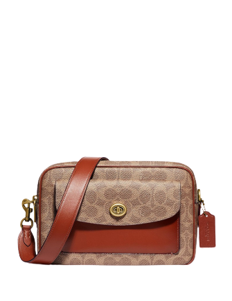 Coach Coated Canvas Signature Cassie Camera Bag