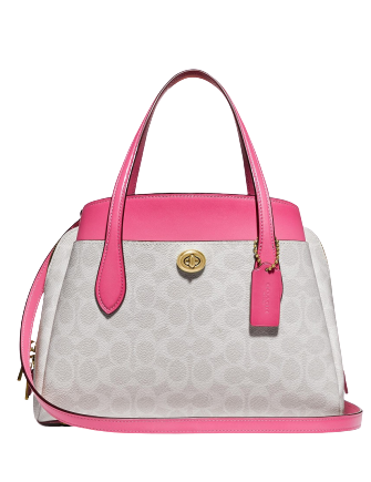 Coach Coated Canvas Signature Lora 30 Satchel