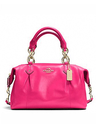 Coach Colette Pleated Leather Satchel