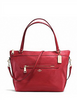Coach Convertible Leather Zip Top Tyler Tote
