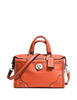 Coach Rhyder 24 Zip Top Satchel in Leather