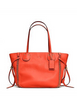 Coach Whiplash Tatum Tote In Vintage Pebbled Leather
