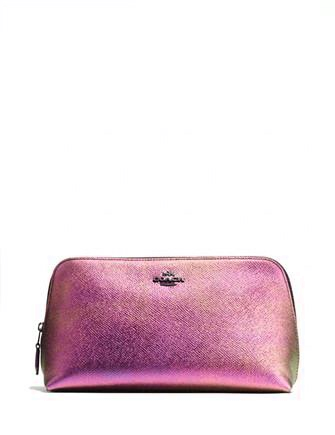Coach Cosmetic Case 22 in Hologram Leather