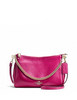 Coach Carrie Crossbody Clutch in Pebble Leather