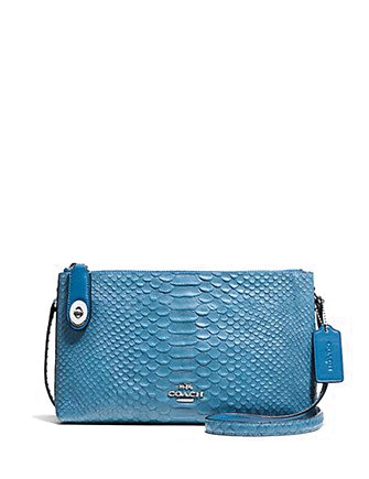 Coach Crosby Crossbody in Snake Embossed Leather