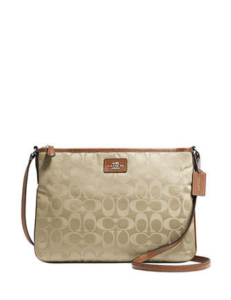Coach Crossbody Bag In Signature Nylon Print / Leather