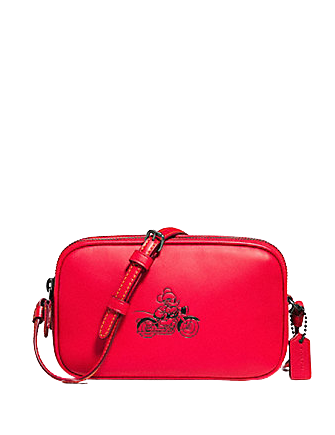 Coach Crossbody Pouch in Glove Calf Leather With Mickey