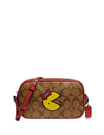 Coach Crossbody Pouch in Signature Canvas with Ms Pack Man