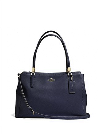 Coach Crossgrain Leather Christie Shoulder Bag