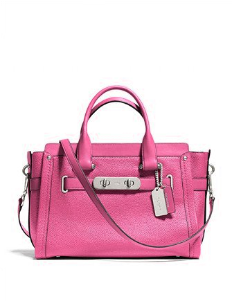 Coach Swagger Carryall In Nubuck Pebbled Leather