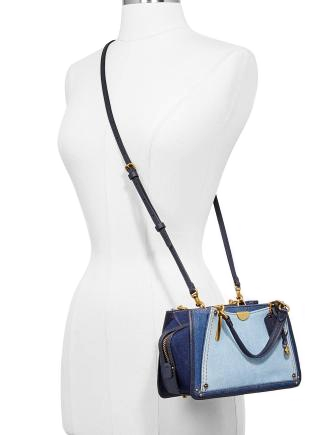 Coach Denim Colorblock Dreamer 21 Mini Satchel