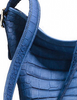 Coach Denim Embossed Leather Croc Duffle
