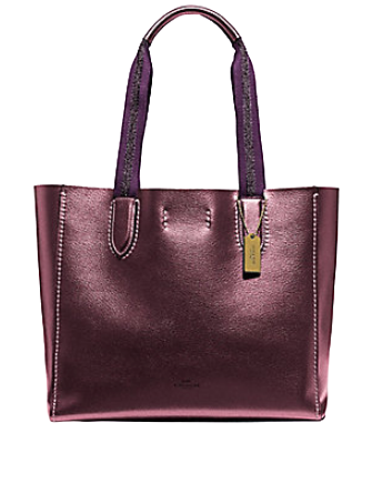 Coach Derby Metallic Tote