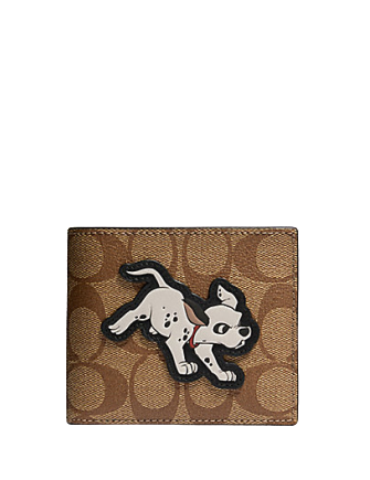 Coach Disney X 3 in 1 Wallet in Signature Canvas With Dalmatian